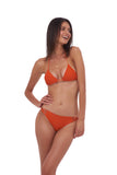 Blue Lagoon - Tie Back with Padded Bikini Top in Sunburnt Orange