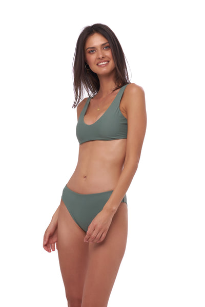 Algarve - Scoop bikini top in Eucalyptus