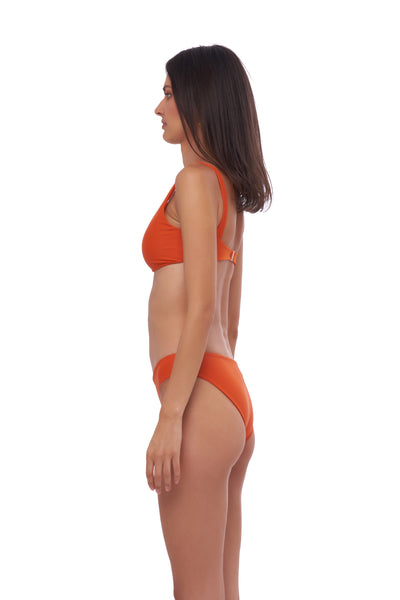 Algarve - Scoop bikini top in Sunburnt Orange