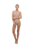 Cinque Terre - One shoulder One Piece in Nude