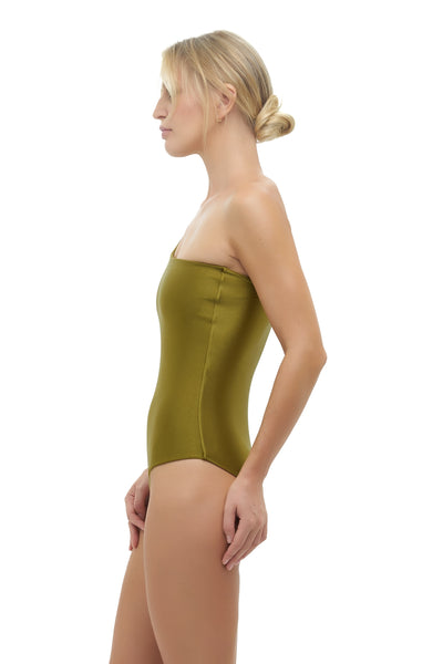 Cinque Terre - One shoulder One Piece in Champagne