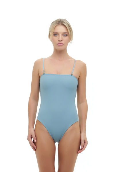 Calla Granara - Removable Strapless One Piece in Dusk Blue
