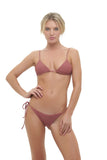 Formentera - Tie Back Triangle Bikini Top in Canyon Rose