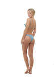 Barbados - Tie knot Side Bikini Bottoms in Dusk Blue
