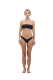 Ravello - Plain Bandeu Bikini Top in Black