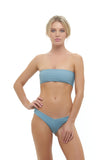 Ravello - Plain Bandeu Bikini Top in Dusk Blue