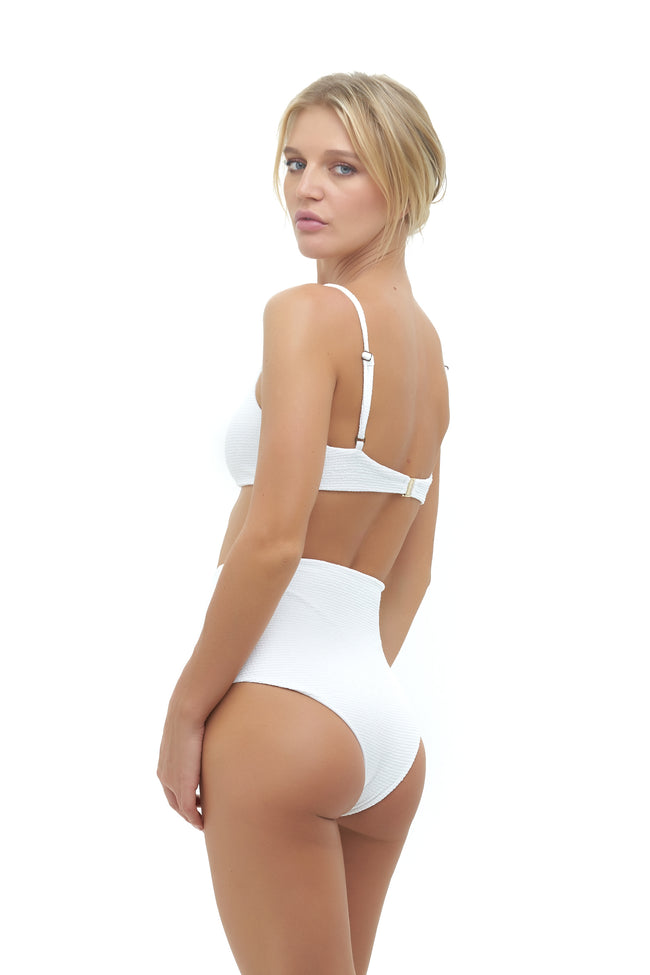 Cannes - High Waist Bikini Bottom in Storm Le Nuage Blanc