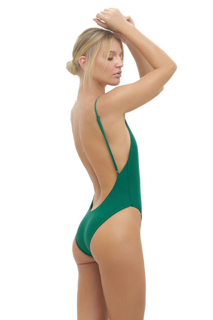 Byron Bay - One Piece Swimsuit in Palm Green