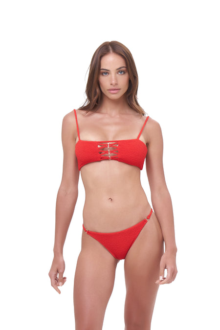 Corsica - Lace Up bikini top in Storm Le Nuage Rouge