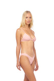Biarritz - Triangle Bikini Top with removable padding in Coral Cloud