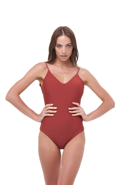 Portofino - One Piece Swimsuit in Desert Sand