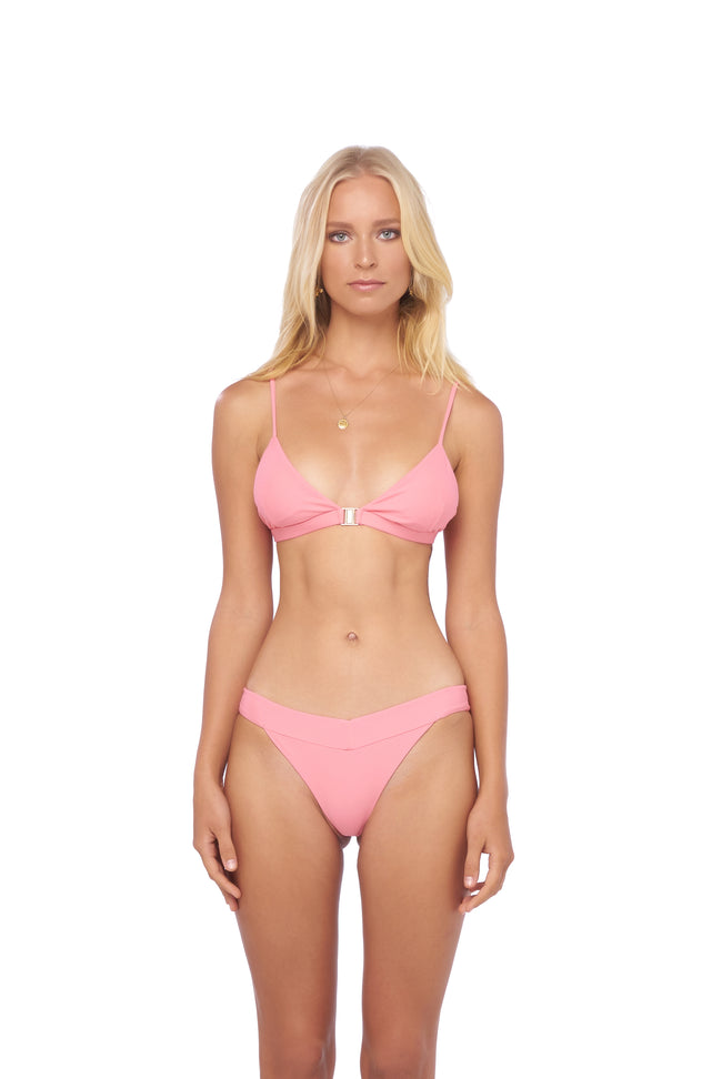 Biarritz - Triangle Bikini Top with removable padding in Cotton Candy