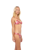 Bora Bora - Twist front padded top in Kaleidescope print