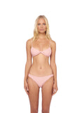 Bora Bora - Twist front padded top in Coral Cloud