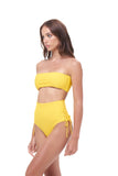 Ravello - Plain Bandeu Bikini Top in Citrus