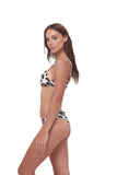 Aruba - Centre Back Ruche Bikini Bottom in Leopard Print