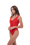 Corsica - Lace Up One Piece in Storm Le Nuage Rouge