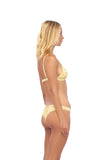 Mallorca - Triangle Bikini Top with removable padding in Sunflower