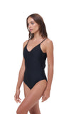 Portofino - One Piece Swimsuit in Black