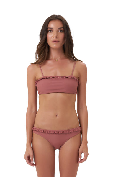 Puglia - Bikini Top in Canyon Rose