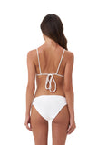 Panama - Tie Back Triangle Bikini Top in Storm Le Nuage Blanc