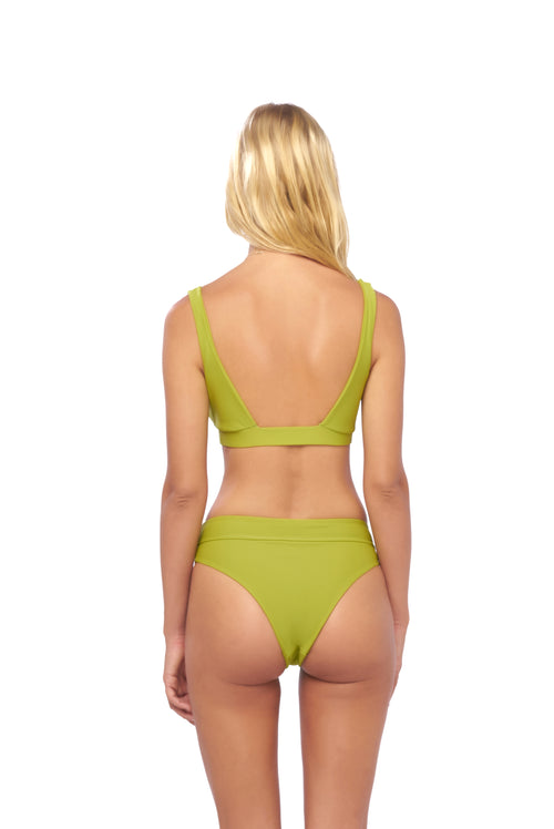 Super Paradise - Super Style High waist brief in Golden Olive