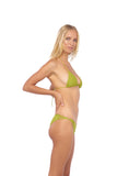 Blue Lagoon - Tie Back with Padded Bikini Top in Golden Olive