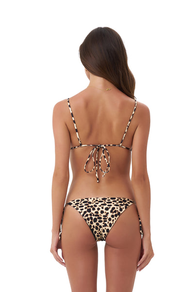 Corfu - Tie Side with Ring Bikini Brief in Cheetah Print