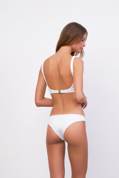 Belize - Bikini Top in White Corduroy