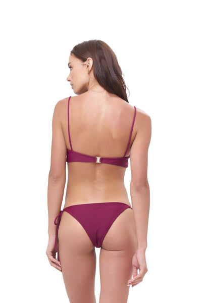 Stromboli - Bikini Top in Wine
