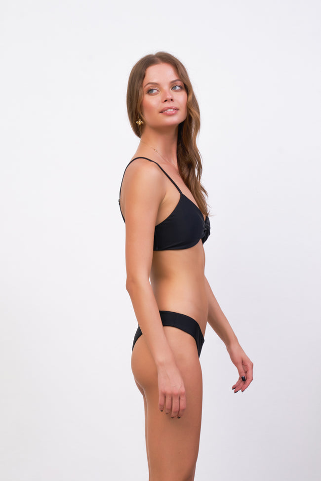 Bora Bora - Twist front padded top in Black