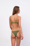 Capri - Tube Single Side Strap Bikini Bottom in Jungle Corduroy