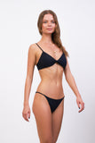 Bora Bora - Twist front padded top in Raven Corduroy