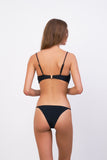 Capri - Tube Single Side Strap Bikini Bottom in Raven Corduroy