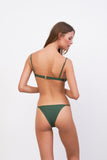 Capri - Tube Single Side Strap Bikini Bottom in Plain Bamboo
