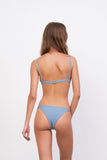 Capri - Tube Single Side Strap Bikini Bottom in Sky Blue