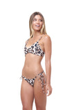 Corfu - Tie Side with Ring Bikini Brief in Leopard