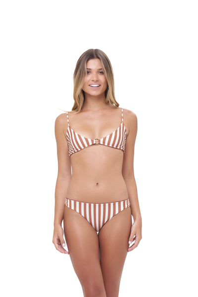Lanzarote - bikini top in Sunburnt Stripe Print