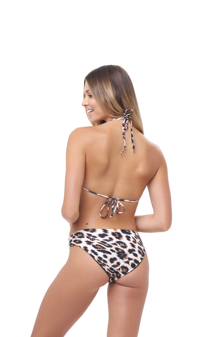 Cannes - High Waist Bikini Bottom in Leopard Print