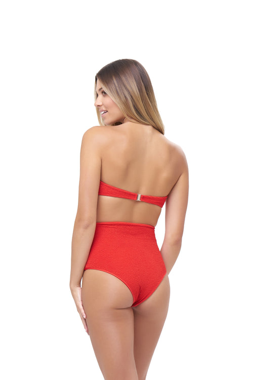 Cannes - High Waist Bikini Bottom in Storm Le Nuage Rouge
