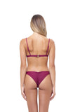 Mallorca - Triangle Bikini Top with removable padding in Wine
