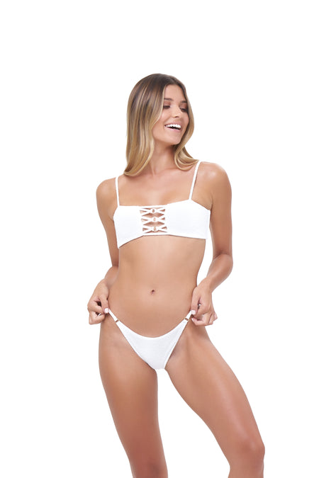 Corfu - Bandeu Bikini Top in Canyon Rose