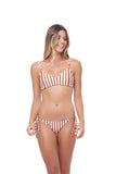 Stromboli - Bikini Top in Sunburnt Stripe
