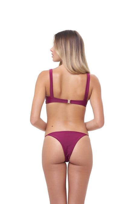 Aruba - Centre Back Ruche Bikini Bottom in Citrus