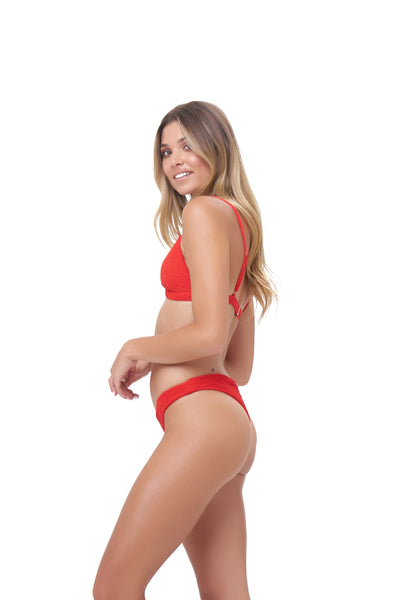 Mallorca - Triangle Bikini Top with removable padding in Storm Le Nuage Rouge