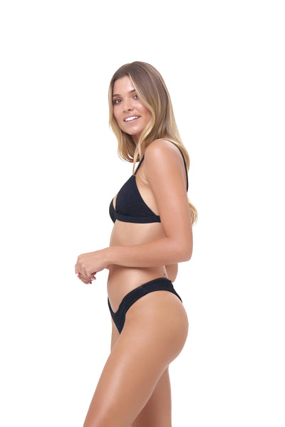 Mallorca - Triangle Bikini Top with Removable Padding In Storm Le Nuage Noir