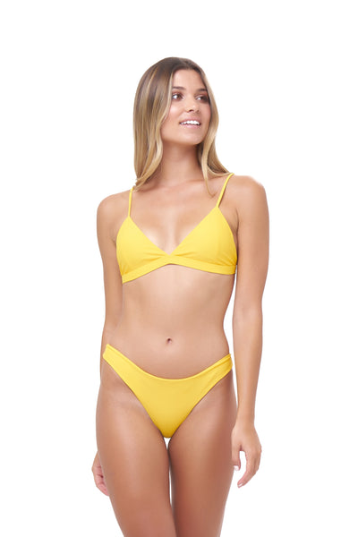 Mallorca - Triangle Bikini Top with removable padding in Citrus