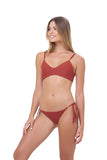 Corfu - Tie Side with Ring Bikini Brief in Desert Sand