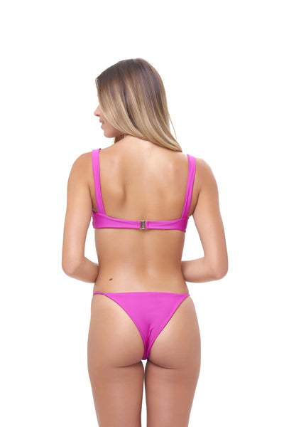 Capri - Tube Single Side Strap Bikini Bottom in Fuchsia