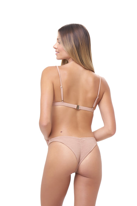 Ravello - Plain Bandeu Bikini Top in Storm Le Nuage Rouille
